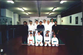 Grandmaster Alberto D. Dacayana SR and students in Rome, Italy.